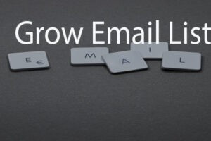 Collect email addresses from target audience