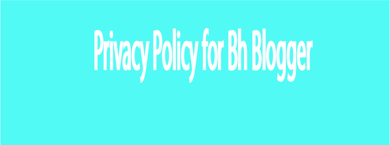 Privacy Policy for Bh Blogger